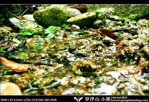 罗浮山水源的小溪